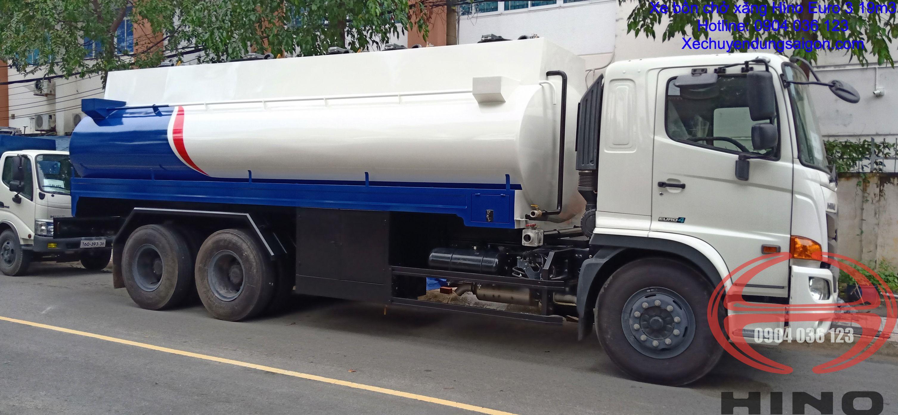 xe bồn chở xăng 19m3